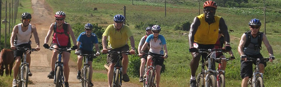 Two groups of cyclists biked across Cuba on two consecutive weeks in early 2015